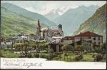 Viege et le Balfrin Hotel Soleil Datiert 1906