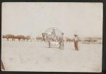 Pappfoto Frachtwagen .t 24 Ochsen durch die Namib