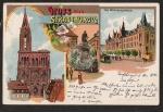Strassburg i. E. Litho Reichspostgebäude Guten