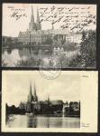 Lübek Dom Museum 1907 und 1935 2 Ak