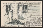 Künstlerkarte Schellenberger Lied Baum Mann