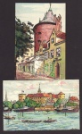 2 AK E. Deeters Lativa Riga Turmstr. Düna Schloß