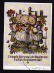 Hummel Karte 5835 Kinder am Gartenzaun