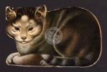 Katze in Katzenform gestanzt Rarität