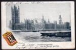 London Parlament Themse Werbung Quacker Weisse