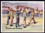 ca. 1940 Antreten zum Blindflug Werbung Fliege