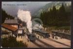 Brünig Bahnhof Buffet Eisenbahn Zug Dampflok