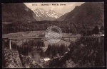 Charmey Pont du Javroz Brücke Berge 1912