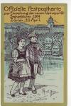 Zürich Einweihung Uni Sechseläutern 1914