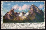 Berggesicht Watzmann Künstler Karte 1899