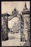 Linz Donau Landstrasse Strassenbahn Tor 1918