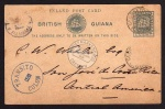 British Guiana Transito Colon to Costa Rica 1890