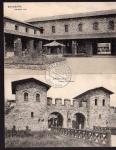 2 AK Saalburg Innerer Hof Porta Decumana 1909