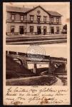 Torbacy Palyaudvar Bahnhof Viadukt Zug 1915