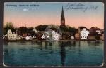 Sonderburg Partie mit der Kirche 1918