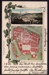 Freistadt Stadtplan Eichenlaub 1905