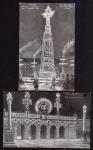 2 AK Wien 1908 Obelisk Aspernplatz Illumination