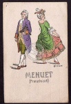 Künstlerkarte Menuett Französisch Serie 1907