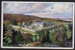 Saalburg Bad Homburg v. der Höhe Künstlerkarte