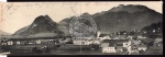 Kössen Tirol 2teilige Panorama Klappkarte 1902