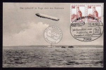 Zeppelin Luftschiff über Bodensee 1906