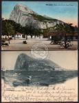 2 AK Gibraltar from spanish shore 1901 1914