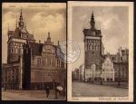 2 AK Danzig 1915 Peinkammer Stockturm Kohlenmarkt