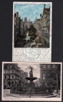 2 AK Danzig Neptunbrunnen Frauengasse 1905