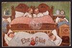 Ehe Glück Bett Kinder Schlafzimmer Baby