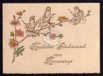 Namenstag Zwerge auf Zweig musizieren Kärtchen