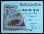 Deutscher Flotten Verein Jahreskarte 1916 Lüdicke
