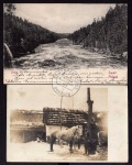 2 AK Nokia Suomi Finland 1904 Schimmel Pferd