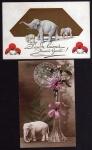 2 AK Bonne Annee Elefant Jauna Gada Elefanten