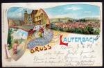 Lauterbach 1899 Baby Kind Strumpf Lied Gedicht