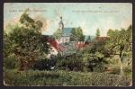 Ober Ramstadt 1912 Kirche v. Pfarrgarten aus