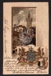 Burg Friedberg Hessen Wappen 1905