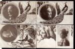 4 AK Jugendstil 1902 Pfau Jungfrau Foto Familie