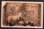 Geldscheinkarte Ein Tausend Glückwünsche 1909