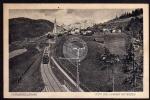 Karwendelbahn Zug Reith gegen Wetterstein 1914
