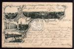Vegesack 1896 Hotel Bellevue Kirche Hafen Land