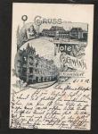 Düsseldorf Hotel Germania Bahnhof 1902