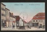Püttlingen i. Lothr. Markt mit Brunnen Cafe Se