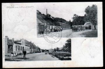Hellewatt 1906 Reklameschild Margarine SOLO