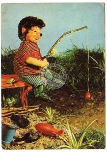 Kinderfernsehen d. DDR Igel Angler Angeln