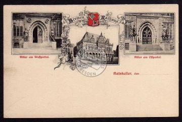 Bremen Rathaus Ritter Westportal Ostportal Rat