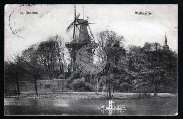 Bremen Windmühle Mole Wallpartie 1910