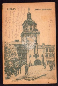 Lublin Brama Krakowska 1915 öst. Feldpost