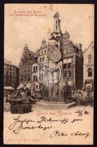 Bremen Roland der Riese am Rathaus zu Bremen