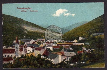 Trencsenteplicz Bad Trenschin Latkepe 1918