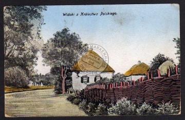 Widoki z Krolestwa Polskiego 1917 Feldpost